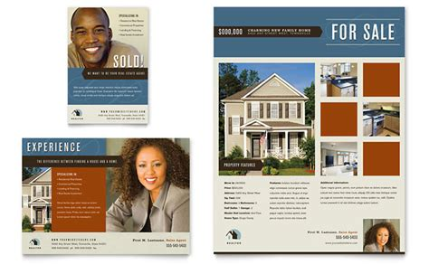 templates for ads residential realtor flyer ad template design
