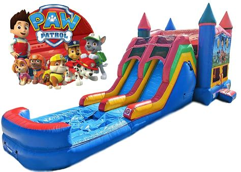 inflatable bouncy toy paw patrol paw patrol bounce house water slide combo columbia sc