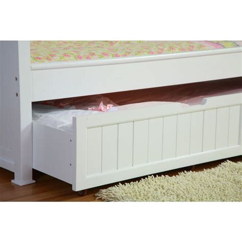 Toddler Trundle Bed Frame Princess Single Bed Frame W Trundle In White Buy Trundle Beds