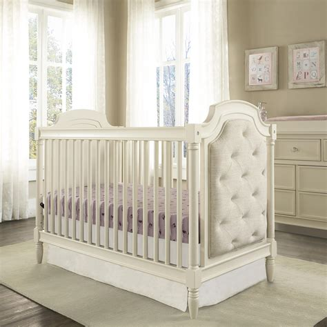 White Convertable Crib Dorel Living Baby Knightly Corrine Upholstered 3 In 1 Convertible Crib White