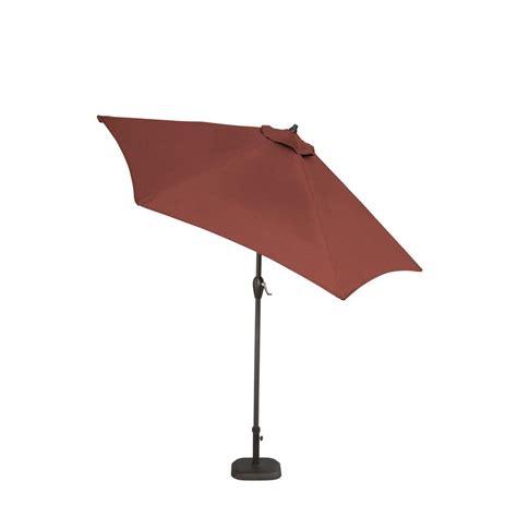 hton bay 9 ft aluminum patio umbrella in burgundy 9900