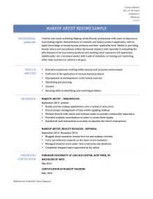 Makeup Artist Objective Resume Makeup Artist Resume Samples Job Descriptions And Template