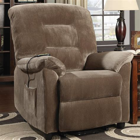 coaster recliners casual power lift recliner  brown sugar upholstery  city furniture