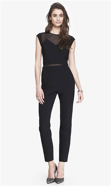 layered mesh top jumpsuit express pretty outfits