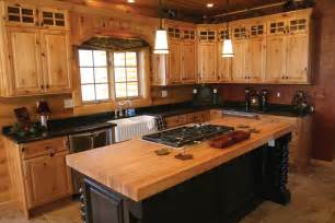 Pine Kitchen Furniture by Colors For Hickory Kitchen Cabinets Optimizing Home