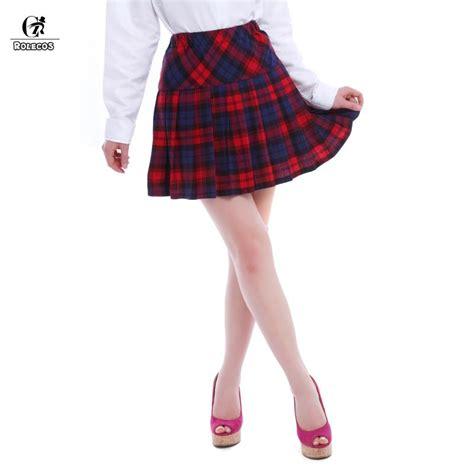 popular purple plaid skirt buy cheap purple plaid skirt