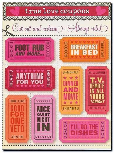 Ideas For Boyfriend Coupons Ideas For Diy S Day Gift Printable