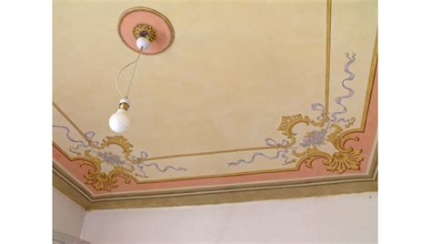 soffitti dipinti dipinti restauro soffitti decorati ocrarossa