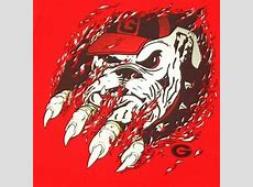 "ga bulldog clipart | Georgia Bulldogs Mens ""Ripped"" T ... Georgia Bulldog Clipart Logo"