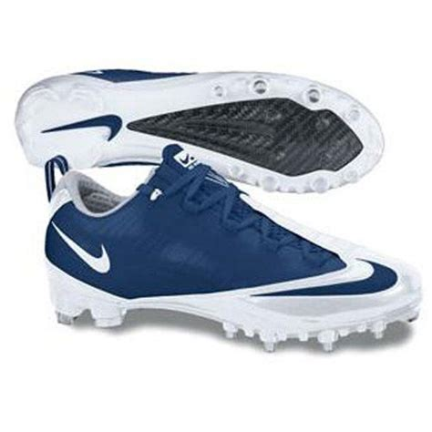 nike blue football shoes nike zoom vapor carbon fly td football cleats white navy
