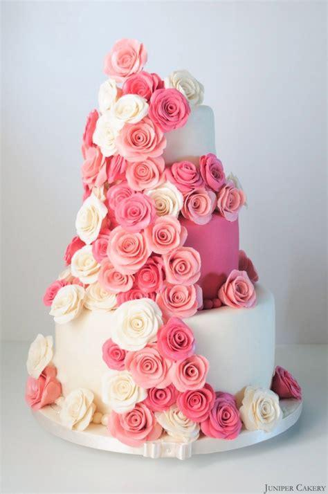 Hochzeitstorte Rosa by Pink Festooned Wedding Cake Cakecentral