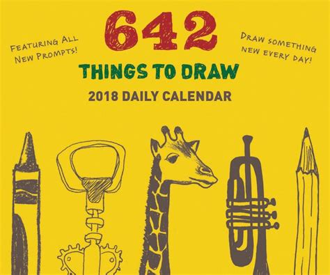 Calendar 2018 Barnes And Noble 2018 Daily Calendar 642 Things To Draw By Chronicle Books