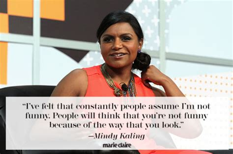 mindy kaling feminist quotes mindy kaling on being female boss refusing to be an outsider