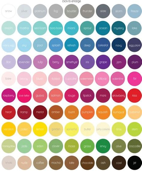 cool color names 25 best ideas about colour chart on pinterest color