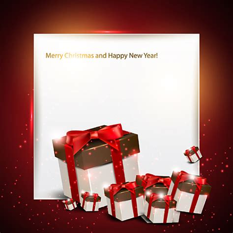 merry christmas and happy new year free vector graphic