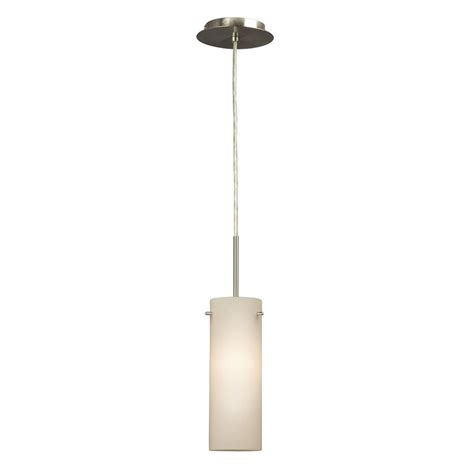 Galaxy Pendant Light Shop Galaxy 4 25 In Brushed Nickel Industrial Mini Cylinder Pendant At Lowes