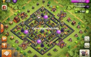 Base clash of clans th 10 war terkuat