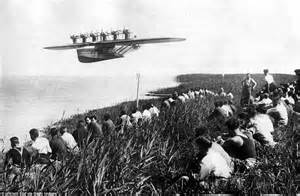 people fly out of boat see pictures of 1920s dornier do x the most luxurious