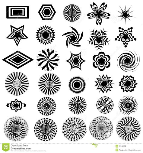 black white design black white design logo elements stock photos image 22160773