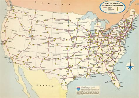 usa road map with mileage interstate guide all you need to about interstate