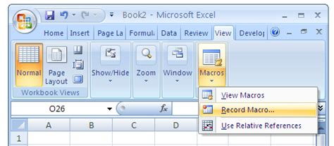 how to run macros in excel using vba lynda com tutorial image gallery excel record