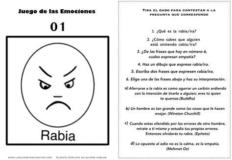 que rabia de juego juego de las emociones 1 frases rabia