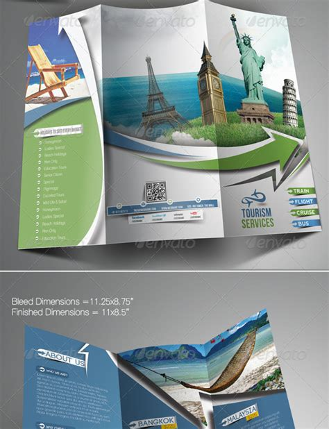 travel tours trifold brochure template template