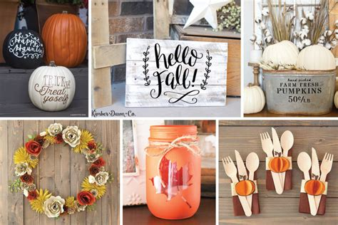 Cricut Home Decor Projects by Fun Fall Home D 233 Cor Projects To Make Now Cricut