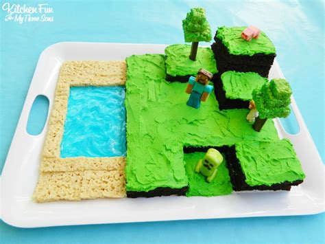 Minecraft Kitchen Ideas easy minecraft birthday party cake kitchen fun with my 3