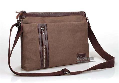 Mens messenger bags canvas, coffee mens shoulder bag   E CanvasBags