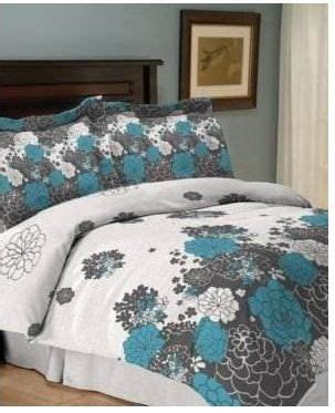 teal black and white bedding jessica sanders loft 4 piece queen comforter set bed in a