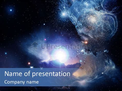 Powerpoint Themes Universe | universe andromeda plasma powerpoint template id