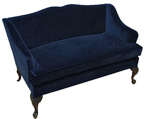 blue velvet settee velvet settee loveseat images