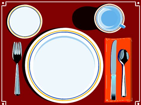 place settings place setting clipart best