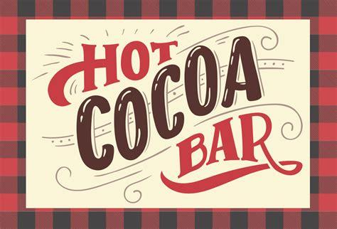 Cocoa Sign Printable kara s ideas cocoa bar with free printables
