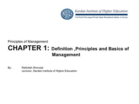 Mba 101 Principles And Practice Of Management by Chap 1 Introduction To Management
