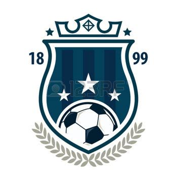 football badge logo template design soccer team vector