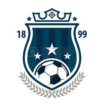 football team logo template football badge logo template design soccer team vector