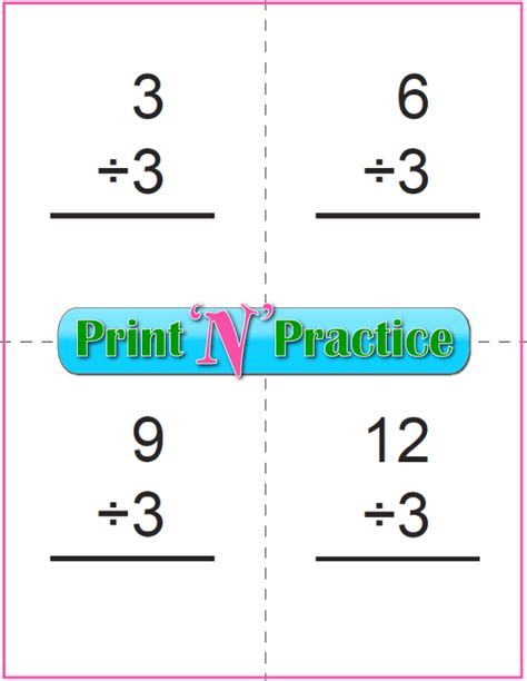 printable division flashcards with answers 50 third grade division worksheets customize and print