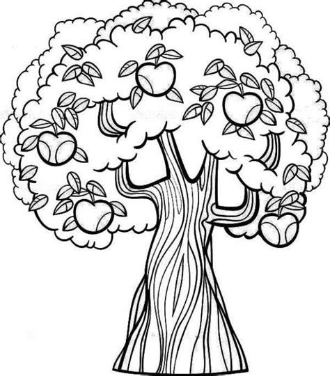 mewarnai gambar pohon apel proyek untuk dicoba