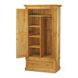 armoire de chambre en pin 2 portes 1 tiroir pays