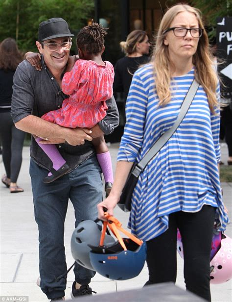 ty burrell and family modern family s ty burrell grins with delight as he