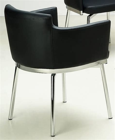 Club Style Dining Chairs Club Style Swivel Arm Chair Set Of 2 Black Contemporary Dining Chairs By Shopladder
