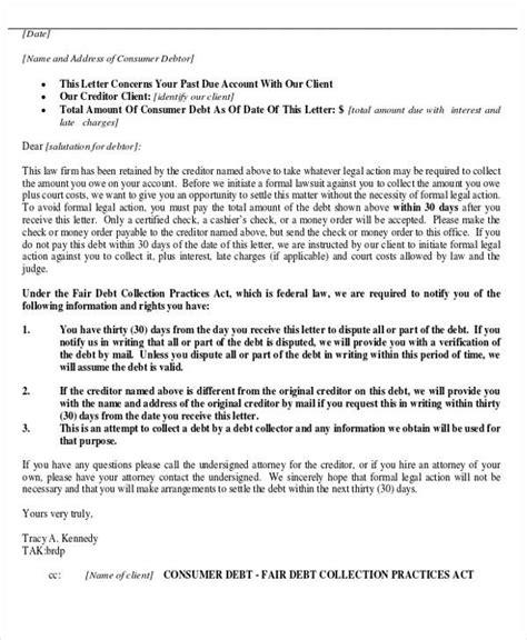 45 Collection Letter Exles Sle Templates Debt Collection Letter Template