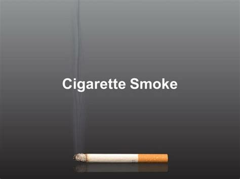 Cigarette Smoke Template Cessation Powerpoint Template