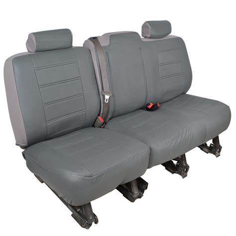 chevy bench seat covers charcoal gray pu leather bench seat covers for chevy