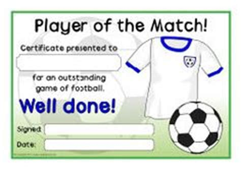 Of The Match Certificate Template 1000 images about soccer on football awards baseball bat display and football