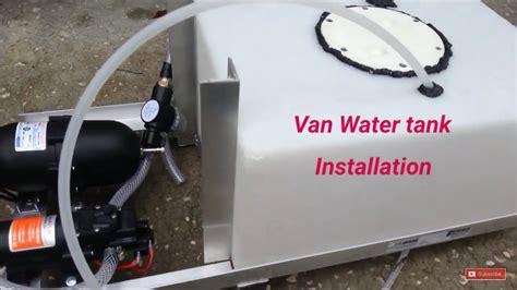 Mercedes Sprinter kitchen water tank installation diy