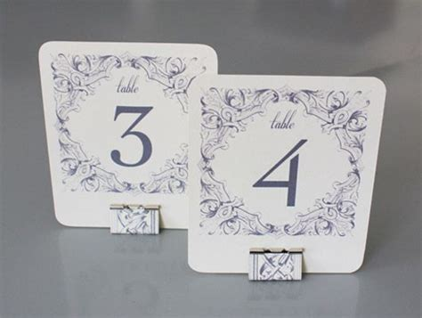 table numbers templates and wedding program templates on