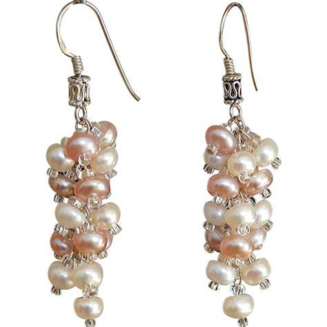 Freshwater Pearl Earring freshwater cultured pearls earrings from gemartstudio on
